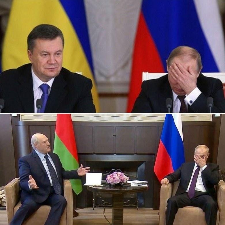 Путин и Лукашенко и Янукович