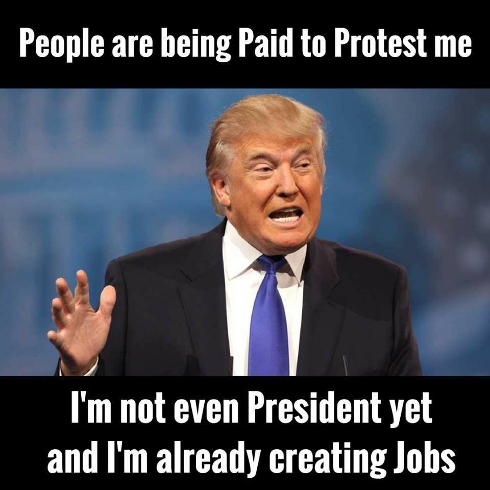 Трамп уже создаёт рабочие места