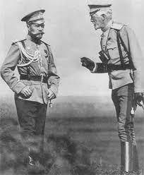 Николай II и великий князь Николай Николаевич. 1913 год