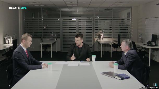 итоги дебатов между Стрелковым и Навальным.