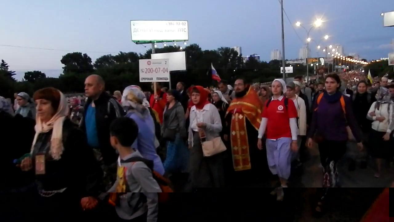 Крестном ходе в память Святых Царственных страстотерпцев 17 июля 2017 года