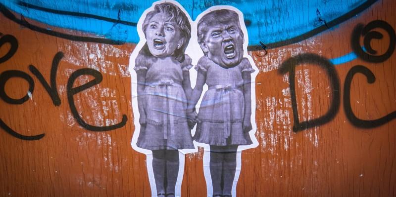 Трам и Клинтон