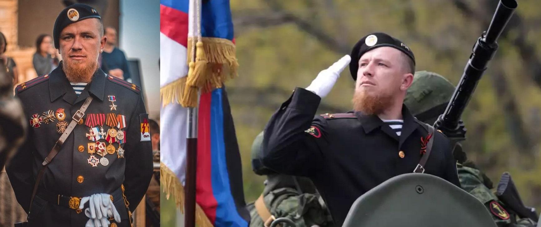 Арсений Павлов на параде в Донецке