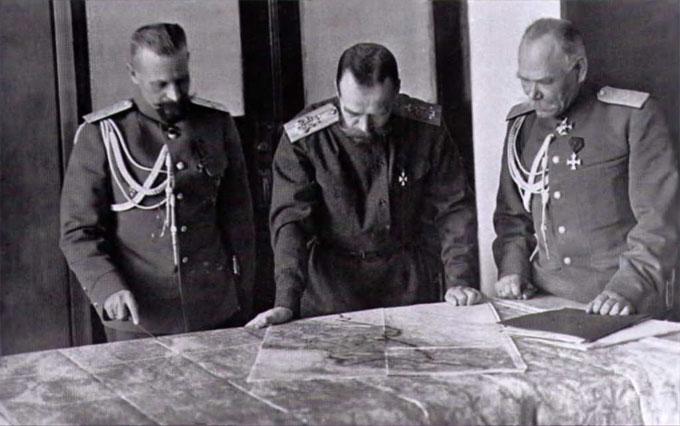 Николай II на ПМВ